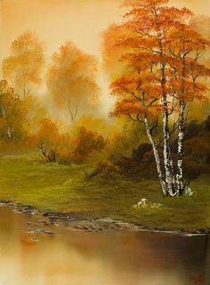 bob ross autumn splendor painting