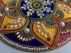 Indian bollywood Rangoli colorful Rangoli Kundan by Kalakruti
