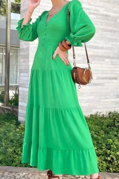2021 New European And American Autumn Fashion Sexy Nightclub Solid Color Multi-Color V-Neck Long Sleeve Long Dress Long Fall Dresses, Club Dresses, Maxi Dresses, Dress Brands, Sleeve Styles, Autumn Fashion, V Neck, Dress Styles, Nightclub