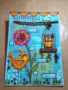 PaperArtsy: NEW {2015} PaperArtsy Products: Eclectica - Lin Brown. So much inspiration in one blog post. And I love the colours.