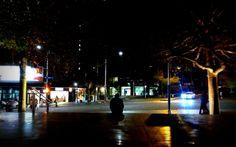 Lone figure - Aotea Square
