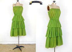 Vintage 1960s dress by adorevintage on Etsy ~ love this green!