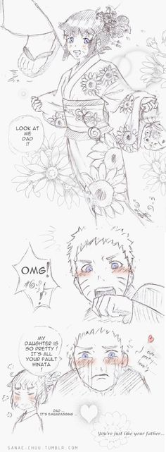 Naruto would definitely be like this, I fear for any boys wanting to date himawari