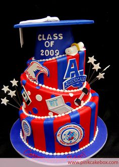 wedding cakes red Graduation Cake Class of 2009 By Pink Cake Box Wedding Cakes amp; Graduation Celebration, Graduation Cake, Graduation Ideas, Graduation 2016, Pink Cake Box, Trunk Party, Cute Cakes, Sweet Cakes, School Colors