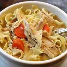 Easy Crock Pot Recipes – Creamy Chicken Noodle Soup