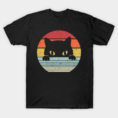 Vintage Black Cat Lover, Retro Style Cats Gift For man adn women - Vintage Black Cat Lover - T-Shirt Cat Shirts, Retro Style, Vintage Black, Retro Fashion, Shirt Style, Cat Lovers, Vintage Ladies, Shirt Designs, Cats