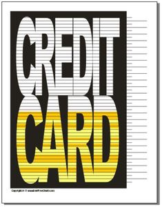 Credit Card – FREE Printable charts to help inspire you  along your debt free journey - Debt Free Charts