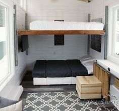 Home interior loft bed ideas for small rooms new tiny house . Beds For Small Spaces, Small Rooms, Small Room Design, Tiny House Design, Small House Furniture, Black Furniture, Couple Bedroom, Diy House Projects, House Beds