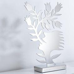 Ren Rong – Blumensprache, Edelstahl - Das berühmteste Motiv eines der renommiertesten chinesischen Künstler.Ren Rongs Pflanzenmensch als limitierte Edelstahl-Edition.