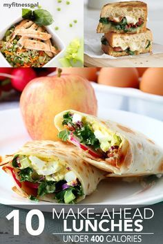 Never go to work unprepared again, with 10 simple make-ahead lunch recipes all under 400 calories.