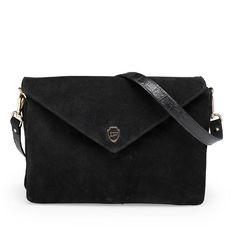 Our all time favorite <3 Hayley black suede shoulder and crossbody bag! #leowulff #black #bag #soft
