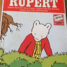 Rupert has found some vintage jigsaws featuring him playing with his chums! Irish Language, Comics, Friends, Shop, Books, Etsy, Fictional Characters, Vintage, Amigos