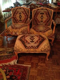 Kilim Covered Chairs