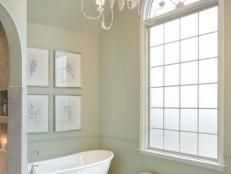 A Bathroom Featuring Graceful Geometry | Bathroom Design - Choose Floor Plan & Bath Remodeling Materials | HGTV