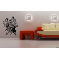 Woman with gift Wall Art Sticker Decal