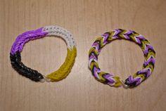 Non Binary Pride Flag Loom Bracelet from AeronMadeThis on Etsy