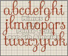Ateliê Ponto & Patch: Monogramas em Ponto Cruz