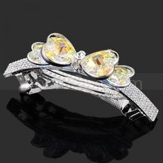 Transparent crystal bow hairpin