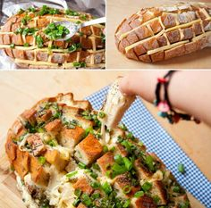 Party Food: The party cheese bread gel goes fast & tastes delicious If you plan a party dinner f Law Carb, Tasty, Yummy Food, Cooking Recipes, Healthy Recipes, Food Humor, Party Snacks, Diy Food, Soul Food