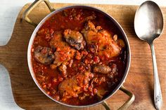 This classic Italian dish must have hundreds of versions, all resulting in a rustic braise of chicken, aromatic vegetables and tomatoes My version includes lots of mushrooms, both dried and fresh You can add kale to the dish if you want to work in some leafy greens (see variation below).