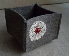 Wool felt bowl.  This seems almost deceptively simple.