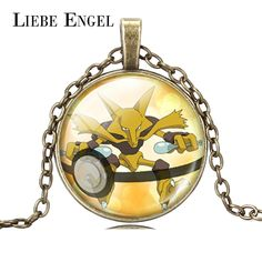 Find More Pendant Necklaces Information about LIEBE ENGEL 2016 Silver Bronze Color Chain Pokeball Alakazam Pokemon Necklace Glass Cabochon Pendant Necklace Fashion Jewelry,High Quality jewelry necklace,China jewelry necklace organizer Suppliers, Cheap necklace color from LIEBE ENGEL Official Store on Aliexpress.com
