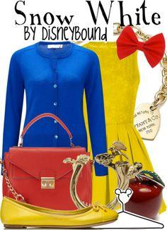 Disney Bound - Snow White (needs a red shoe) Princess Inspired Outfits, Disney Princess Fashion, Disney Inspired Fashion, Disney Princess Party, Disney Style, Snow White Outfits, Disney Dress Up, Disney Clothes, Estilo Disney