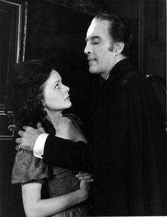 "Wendy Hamilton and Christopher Lee ""Scars of Dracula"", 1970 Hammer Horror Films, Hammer Films, Gothic Horror, Freddy Krueger, White Image, The Villain, American Horror Story, Film Movie, Movies"
