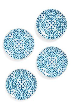 Signature Housewares Indigo Tile Plates (Set of 4) available at #Nordstrom