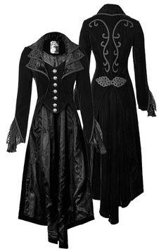 Viktorianischer Mantel mit Schleppe und Posament Verzierungen