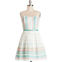 ModCloth Festival Strapless A-line Triad and True Dress (€18) found on Polyvore featuring dresses, modcloth, vestidos, apparel, fashion dress, varies, embroidered dress, white strapless dress, white strapless sundress and sundress dresses (MARCH 2015 !!!)