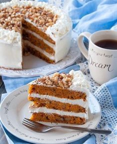 Американский морковный торт. Русские Рецепты, Вкусная Еда, Морковный Пирог, Стать Стройными, Печенье