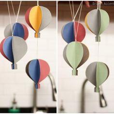 DIY Hot Air Balloon Mobile {Party Decor}