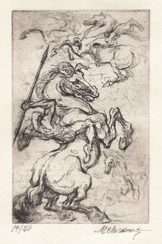 marcel chirnoaga Fable, Animal Graphic, Biro, Equine Art, Pictures To Draw, Marcel, Animal Drawings, Grandville, Horses