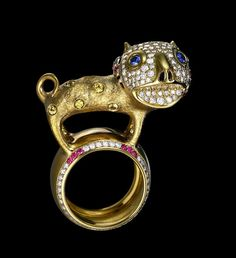 Dashi Namdakov, odd in a good way gold and jeweled ring