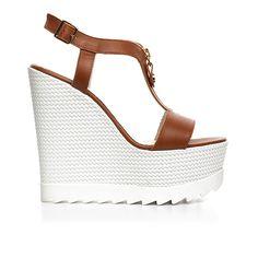 Code: 850G04 Heel height: 13 cm www.mourtzi.com #wedges #whitesole