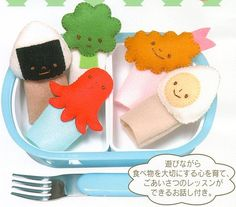Shop | Category: Crafty Kits | Product: Felt Kit - Finger Puppets - Bento Lunch