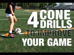 Soccer Cone Drills Beginner & Advanced - YouTube
