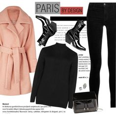 How to Style a Pink Coat for Paris in the Fall by outfitsfortravel on Polyvore featuring Zizzi, 2NDDAY, J Brand, 3.1 Phillip Lim, ADORNIA, Henri Bendel and contemporary
