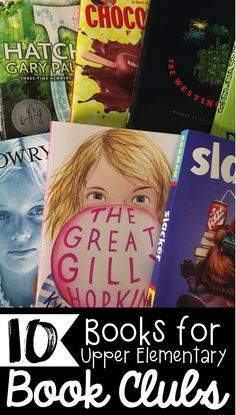 Looking for books that your Upper Elementary Students will love to read during Book Clubs? Check out my list of ten books that are perfect for third grade, fourth grade, and fifth grade.
