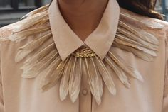 Something different!!! silvester - party look outfit! feather statement necklace (Diy Necklace Feather)