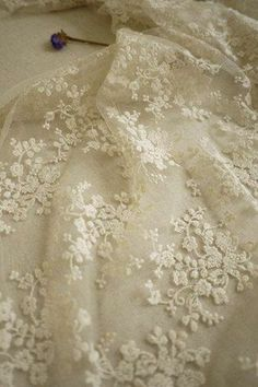 .So fine! French net embroidered lace.