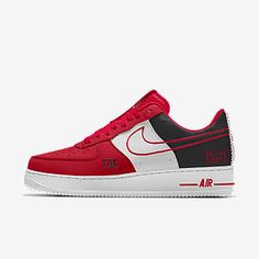 Nike Air Force 1 Low Premium iD (Washington Wizards) Men's Shoe Size 17 (Multi-Color) Ankle Sneakers, Slip On Sneakers, Sneakers Nike, Sneakers Women, Baskets, Nike Co, Fresh Shoes, Nike Air Force Ones, Plimsolls
