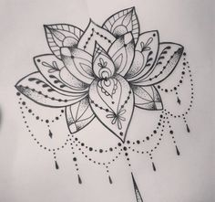 Cool Dotwork Lotus Tattoo Design 59 Tattoo Designs that Mean New Beginning Lotus Tattoo Design, Lotus Mandala Tattoo, Flower Tattoo Designs, Tattoo Flowers, Drawing Flowers, Lotus Design, Lotus Drawing, Lotus Henna, Henna Designs