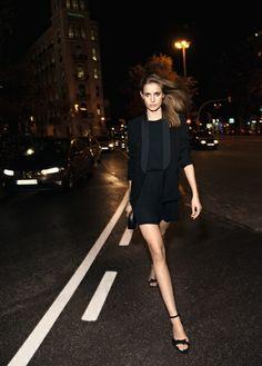 Draped chiffon dress - the little black dress, chich for a night out by Mango