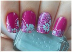 Cute flowers nailart
