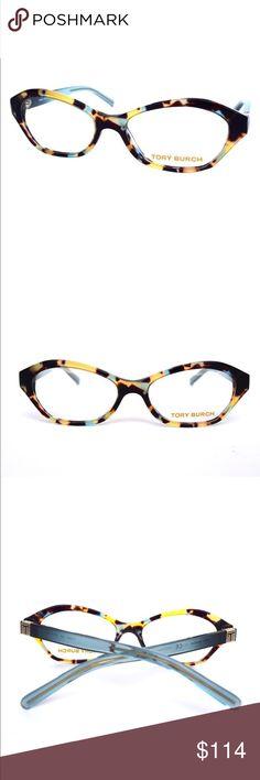 e8b1d9c0fbf Tory Burch New Light Tortoise Teal Eyeglasses Tory Burch New Light Tortoise  Teal Eyeglasses Optical Frame