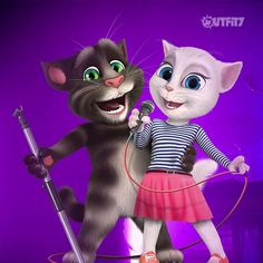 Loving this fun karaoke party! What song to pick today … decisions, decisions... xo, Talking Angela #TalkingAngela #TalkingTom #MyTalkingAngela #LittleKitties #karaoke #party #singing #singer #fun #ootn