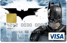 batman credit card, Kreditkarte Batman