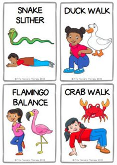 Animal Walks Movement Cards - Brain Breaks, Self-Regulation, Sensory Break Physical Activities For Kids, Animal Activities For Kids, Gross Motor Activities, Movement Activities, Physical Education Games, Sensory Activities, Kids Education, Learning Activities, Preschool Activities